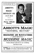 Abbotts First Catalog in 1934