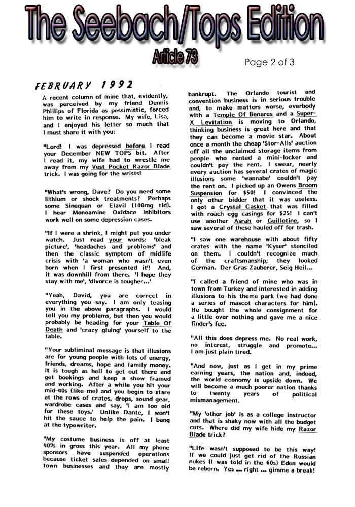Seebach Reprints